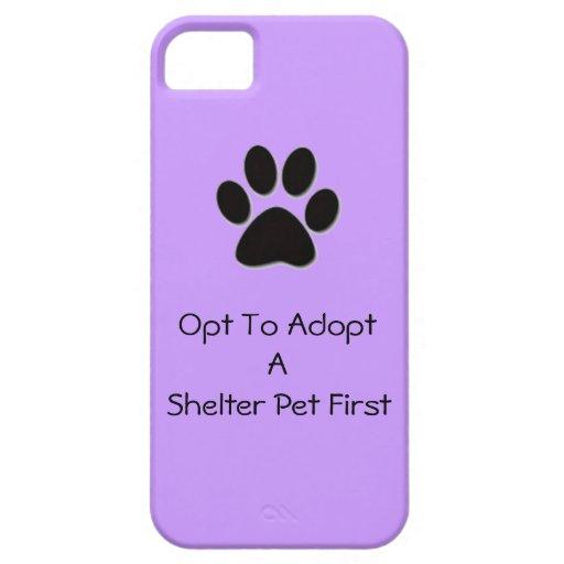 Opte adoptar el caso del iPhone 5/5s del mascota d iPhone 5 Cobertura