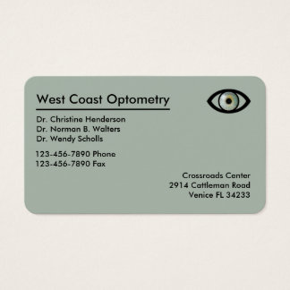Optometrista Businesscards moderno Tarjeta De Visita