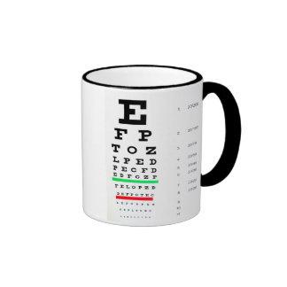 Optometrista Taza A Dos Colores
