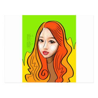 Orange Girl portrait concept Postal
