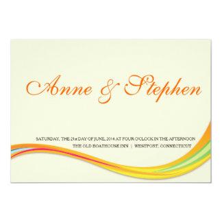 oranye suave de la invitación simple del boda