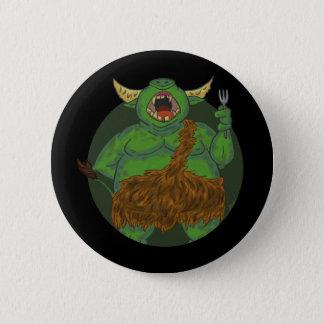 Orc hambriento con un botón de la bifurcación