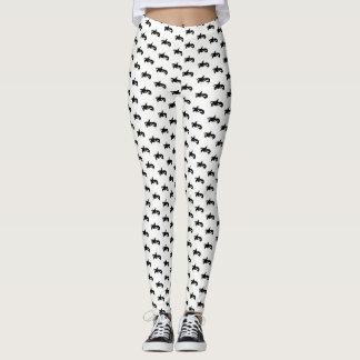 Orca blanco y negro modelada leggings