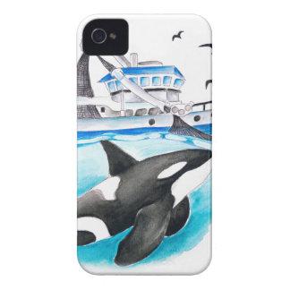 Orca y el barco carcasa para iPhone 4