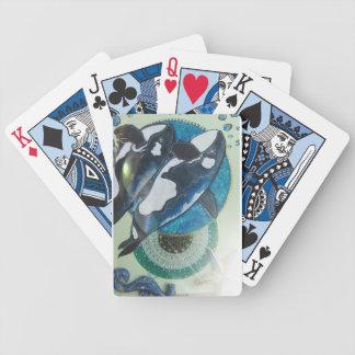 Orcas gemelas baraja de cartas bicycle