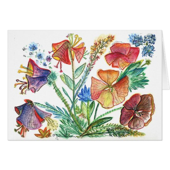 Orchid11white Tarjeta De Felicitación