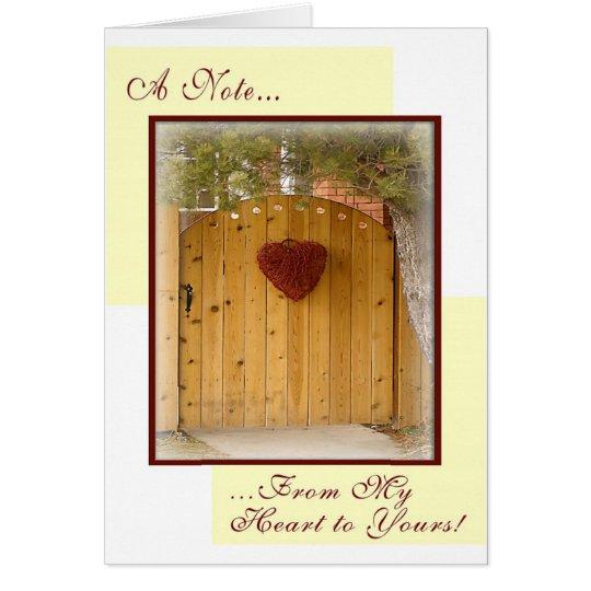 Orden de encargo: De mi corazón el suyo Tarjeta Pequeña