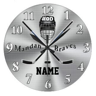Orden de encargo su reloj de pared del hockey en