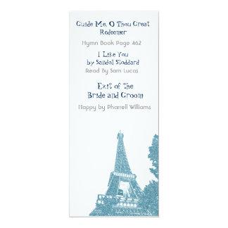 Orden de la torre Eiffel del servicio Invitación 10,1 X 23,5 Cm