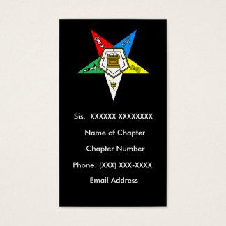 Orden de OES del negro de la tarjeta de visita de