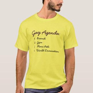 Orden del día gay camiseta