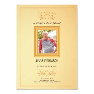 Orden fúnebre de la tarjeta de programa de invitación 12,7 x 17,8 cm
