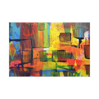 orden orgánica abstracta impresión en lienzo