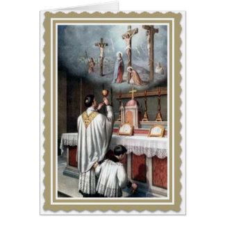 Ordenación Jesús del aniversario de la sacerdocio Tarjeta De Felicitación