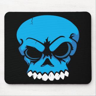 Ordenador azul Mousepad del cráneo del vector Tapetes De Ratón