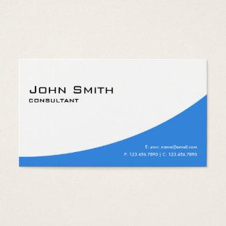 Ordenador moderno elegante azul llano profesional tarjeta de negocios