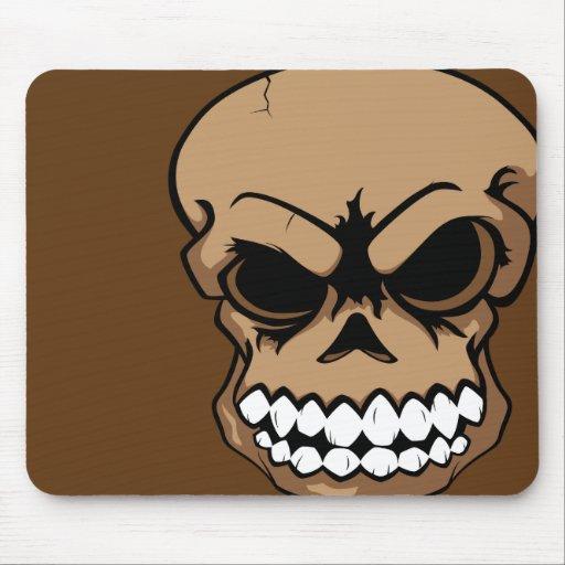 Ordenador Mousepad del cráneo del vector de Brown Tapetes De Ratón