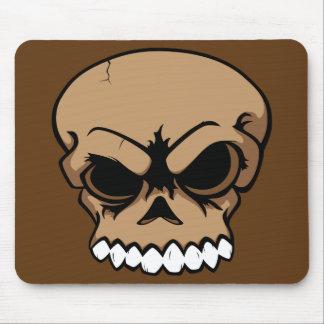 Ordenador Mousepad del cráneo del vector de Brown Tapetes De Raton