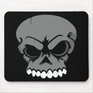 Ordenador negro Mousepad del cráneo del vector Alfombrilla De Ratones