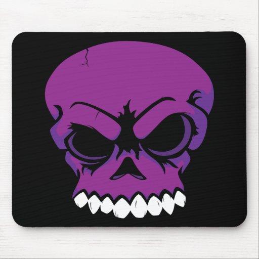 Ordenador púrpura Mousepad del cráneo del vector Alfombrilla De Raton