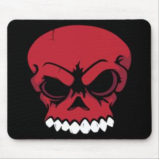 Ordenador rojo Mousepad del cráneo del vector Alfombrillas De Ratón