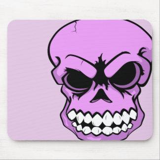 Ordenador rosado Mousepad del cráneo del vector Alfombrilla De Ratones