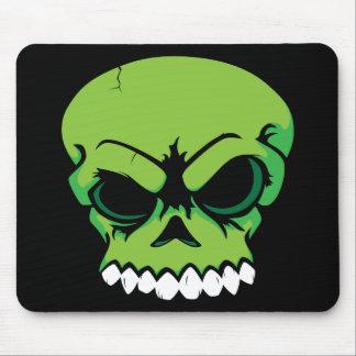 Ordenador verde Mousepad del cráneo del vector Alfombrilla De Ratones