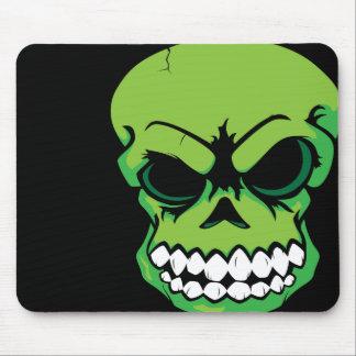 Ordenador verde Mousepad del cráneo del vector Alfombrillas De Ratón
