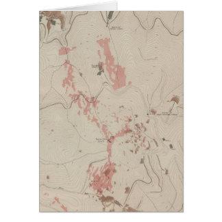 OreBodies y topografía de MineHill nuevo Almaden Tarjeta