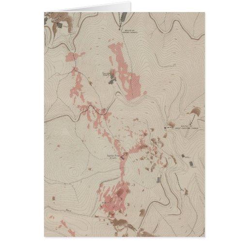 OreBodies y topografía de MineHill, nuevo Almaden Tarjeta
