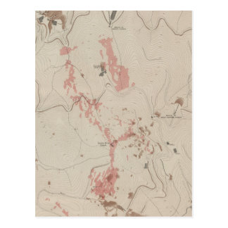 OreBodies y topografía de MineHill nuevo Almaden Postal