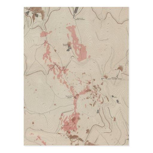 OreBodies y topografía de MineHill, nuevo Almaden Postal
