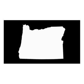 Oregon en blanco y negro tarjetas de visita