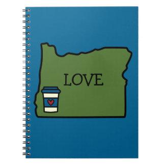 Oregon y café libretas espirales
