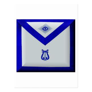 Organista masónico postal