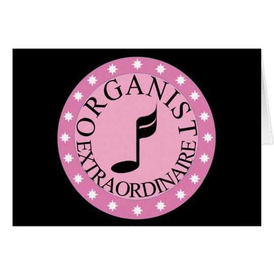 Organista rosado Extraordinaire Tarjeta De Felicitación