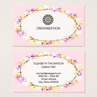 organización suave elegante de las flores tarjeta de visita