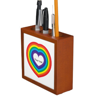 Organizador De Escritorio Corazón del arco iris