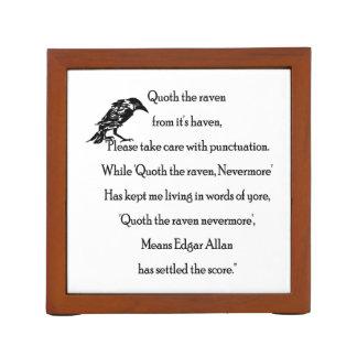 Organizador De Escritorio Quoth el cuervo de él es asilo