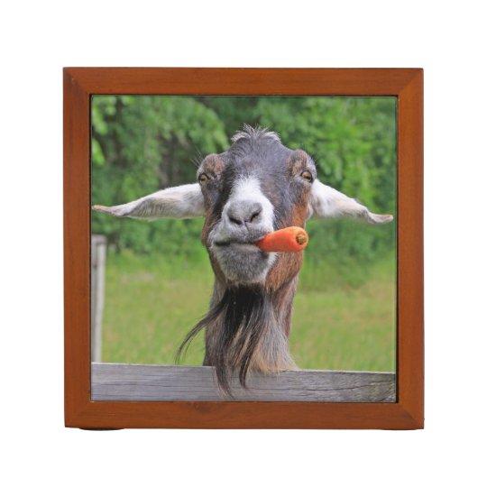Organizador del escritorio de la cabra