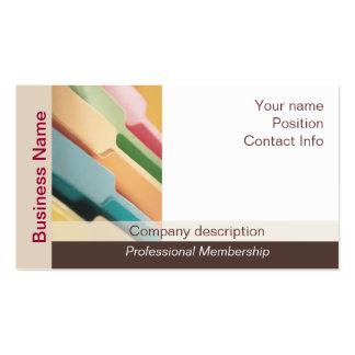 Tarjetas de visita organizador profesional - Organizador profesional ...