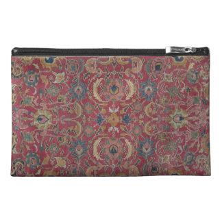Organizador rojo de la alfombra persa neceser de viaje