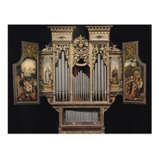 Órgano de coro con los paneles abiertos postales