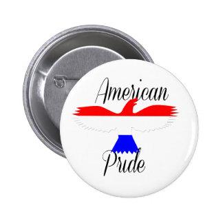 Orgullo americano chapa redonda de 5 cm