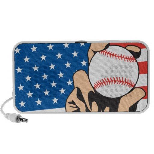 orgullo americano del béisbol de la bandera de los sistema altavoz