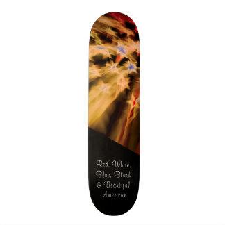 Orgullo americano negro patines personalizados