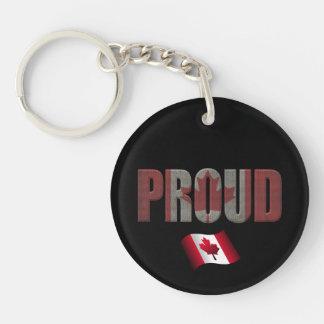 Orgullo canadiense llavero