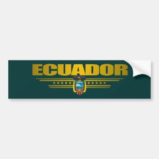 """""""Orgullo de Ecuador """" Pegatina Para Coche"""