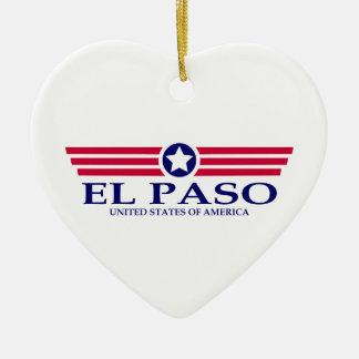 Orgullo de El Paso Adorno De Cerámica En Forma De Corazón