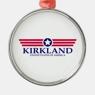 Orgullo de Kirkland Adorno Redondo Plateado